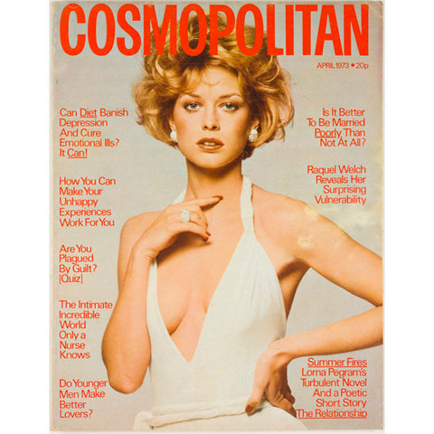 Racquel Welch Lorna Pegram Cosmopolitan mgazine April 1973