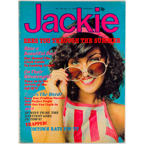 Boomtown Rats pin-up Jackie Magazine 15th July 1978
