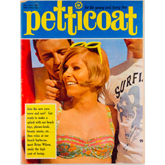 Brian Wilson Surfing Cover Petticoat Magazine 16th July 1966