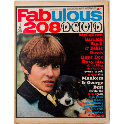 Davy Jones George Best Fabulous 208 magazine 25th November 1967