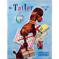 Christmas Shopping illustrated Dog The Tatler 7th December 1955