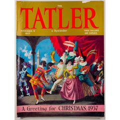 Harlequins Venetian Christmas cover The Tatler 8th November 1957