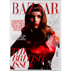 Harpers Bazaar magazine Swarovski crystal cover UK September 2007