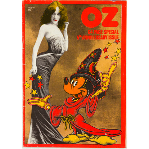 John Wilcock Underground Press 5th Anniversary Oz Magazine No 40 1972
