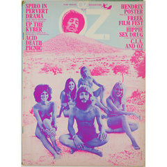 Jimi Hendrix tribute Germaine Greer CIA Psychedelic Oz Magazine No 30