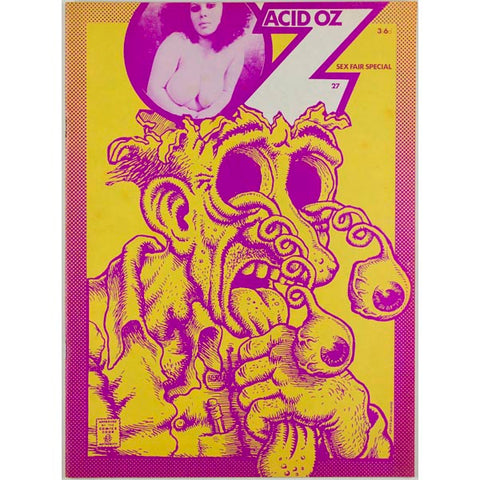 R. Crumb psychedelic illustrations Manson Oz Magazine No. 27 1970 vtg