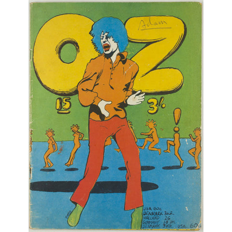 Mick Jagger Martin Sharp Cover Hendrix Poster Oz Magazine No. 15  1968