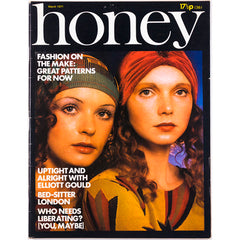 Honey Magazine UK March 1971 - Penelope Tree cover Elliott Gould