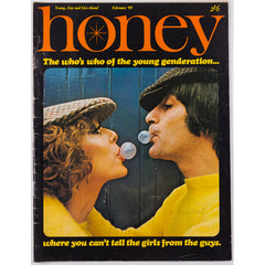Honey Magazine UK February 1969 Androgynous Fashions Bubble Gum Flat Caps