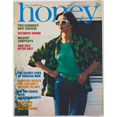 Honey Magazine UK August 1975 - Warren Beatty Jumpsuits Make Up Artists