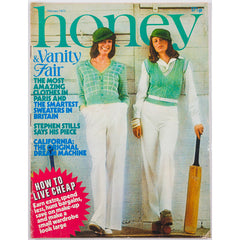 Honey Magazine UK February 1973 - Paris Collections issue Yves Saint Laurent Stephen Stills