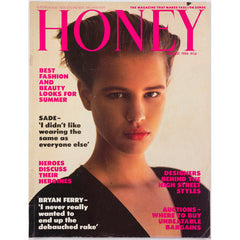 Honey Magazine UK August 1986 - Bryan Ferry & Sade Andy Warhol review