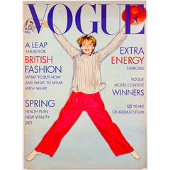 Aquascutum 125 Years Jumping Jacks British Vogue magazine March 1976