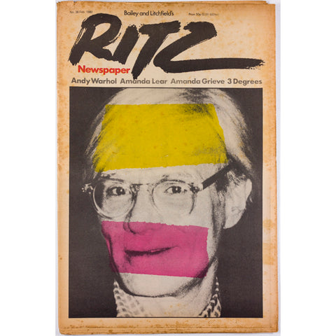 Andy Warhol Amanda Lear Cecil Beaton tribute RITZ Magazine No 38 1980