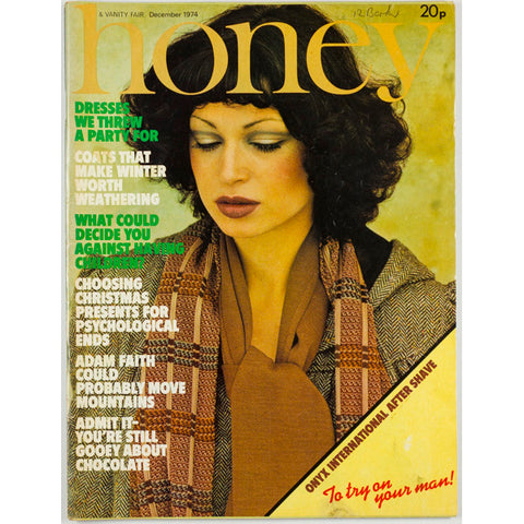 Honey Magazine UK December 1974 Adam Faith BIBA