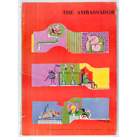 The Ambassador magazine 1949 Graham Sutherland Jay fashion Coats Wool Rayon