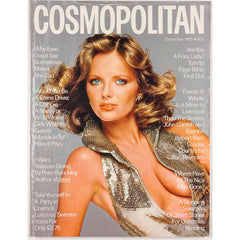 Cheryl Tiegs Jerry Hall YSL Pour Homme Cosmopolitan Magazine December 1975