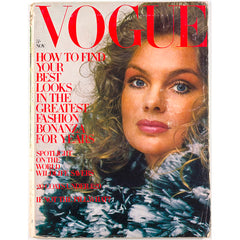 Jean Shrimpton Pattie Boyd British Vogue magazine November 1970
