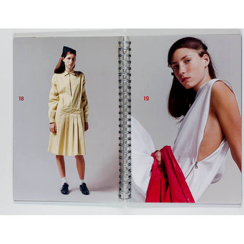 PRADA campaign LOOKBOOK Spring Summer 2001 Metal cover SPIRAL BOUND