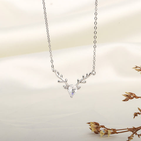 925 Silver Deer Necklace