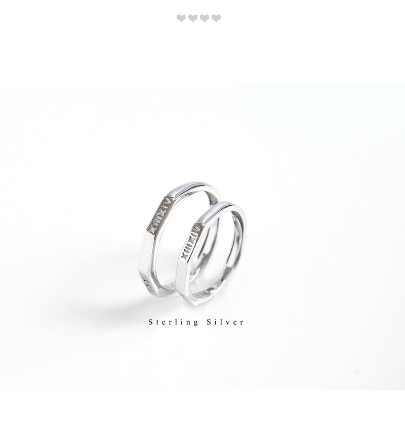 925 Couple Ring 1314 Roma Number