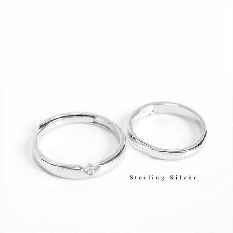 925 Couple Ring Diamond