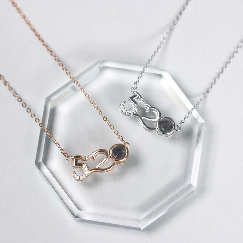 925 Silver 100 Language I LOVE YOU 520 Necklace