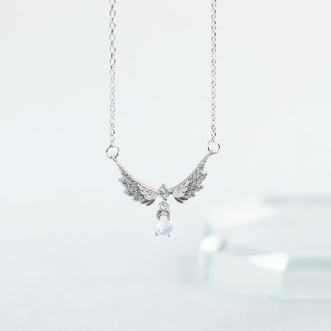 925 Silver Angel Wing Necklace