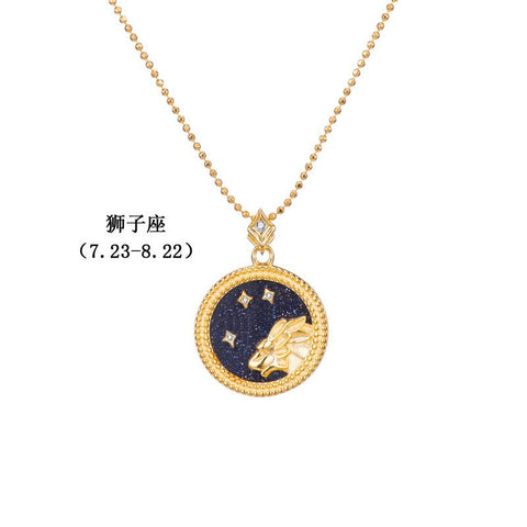 925 Silver Elegant 12 Constellation Necklace