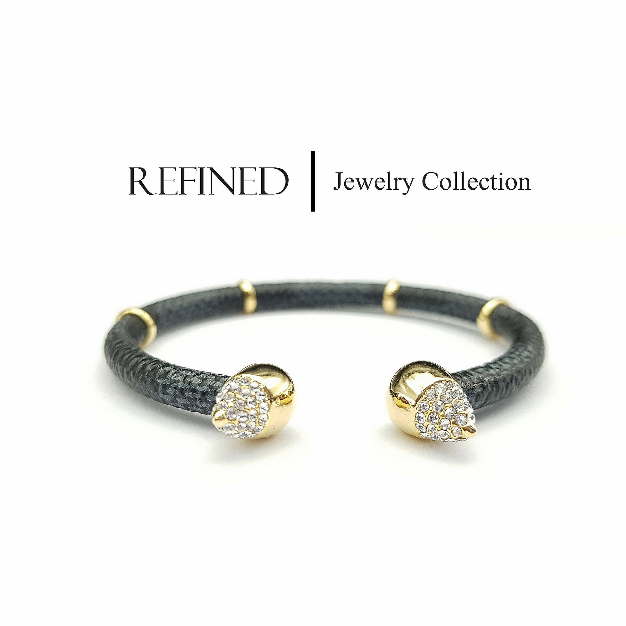 R018 - Rhinestone Crystal Refined Bangle