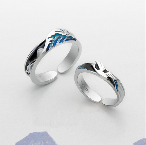 Couple Ring Kanagawa Surf Ring