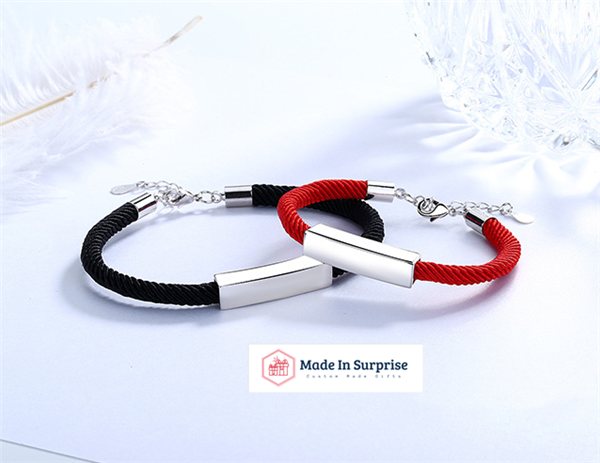 Made Personalized Name Black & Red Brace