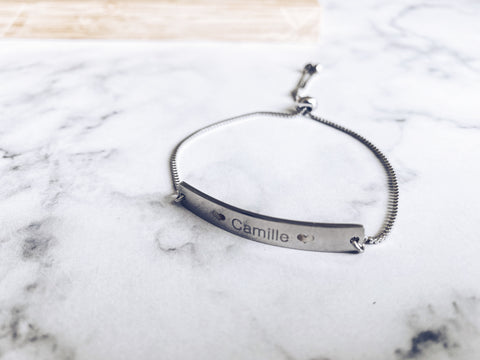 Made Personalized Name Stainless Steel Bracelet