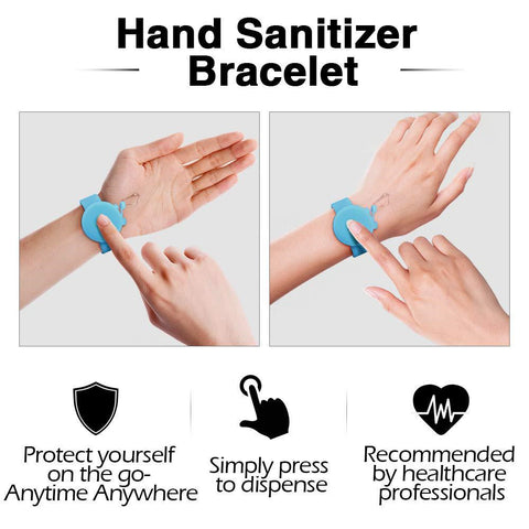 Silicone Bracelet V2.0 Wristband Hand Dispenser Wearable