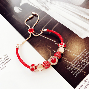 Korea Red Crystal Bracelet