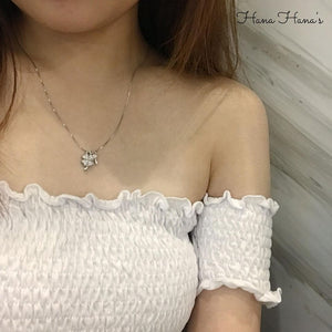H012 - 925 SILVER - CLOVER WITH KEY NECKLACE
