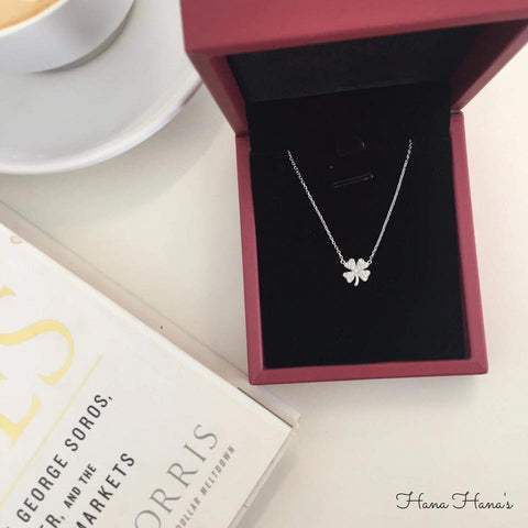 H001 - 925 SILVER - CLOVER NECKLACE