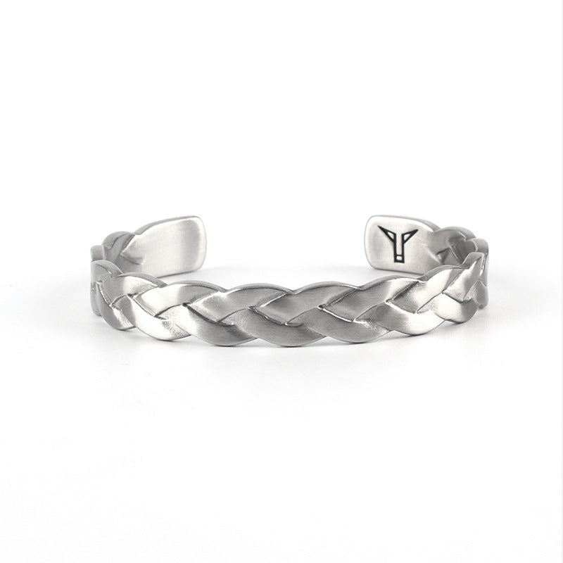 B052 Street Style Braid Bangle