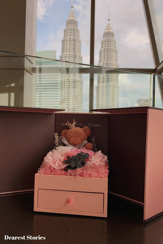 Luxury Teddy Flower Sweet Box