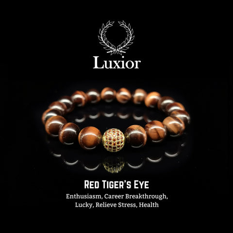 RED TIGER'S EYE LUXIOR BRACELET