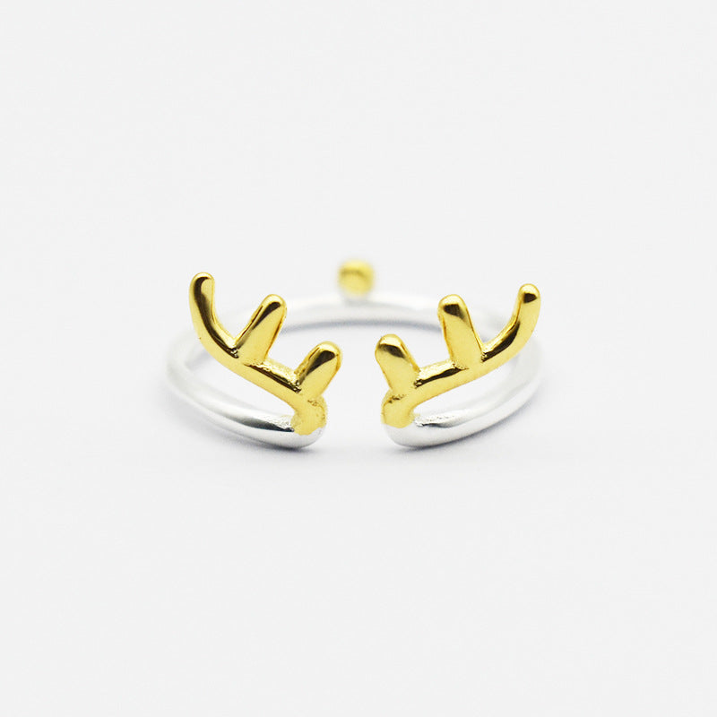 925 Cute Reindeer Ring