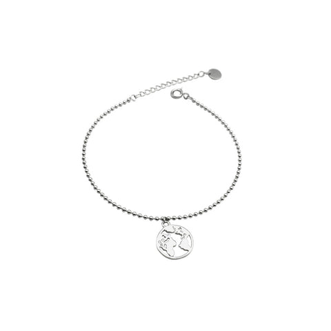 B021 925 Travel Around the World Bracelet
