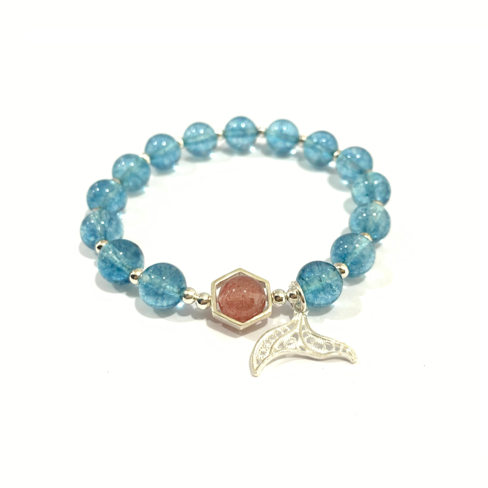 FA001 - Blue crystal mermaid tail bracelet