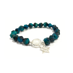 FA003 - Blue tiger eye star bracelet
