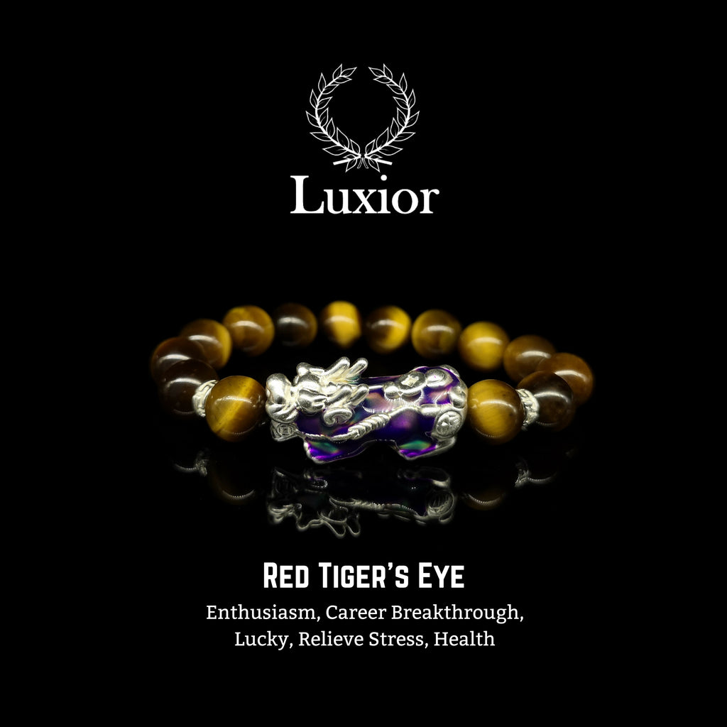 YELLOW TIGER'S EYE LUXIOR BRACELET (PIXIU SILVER)