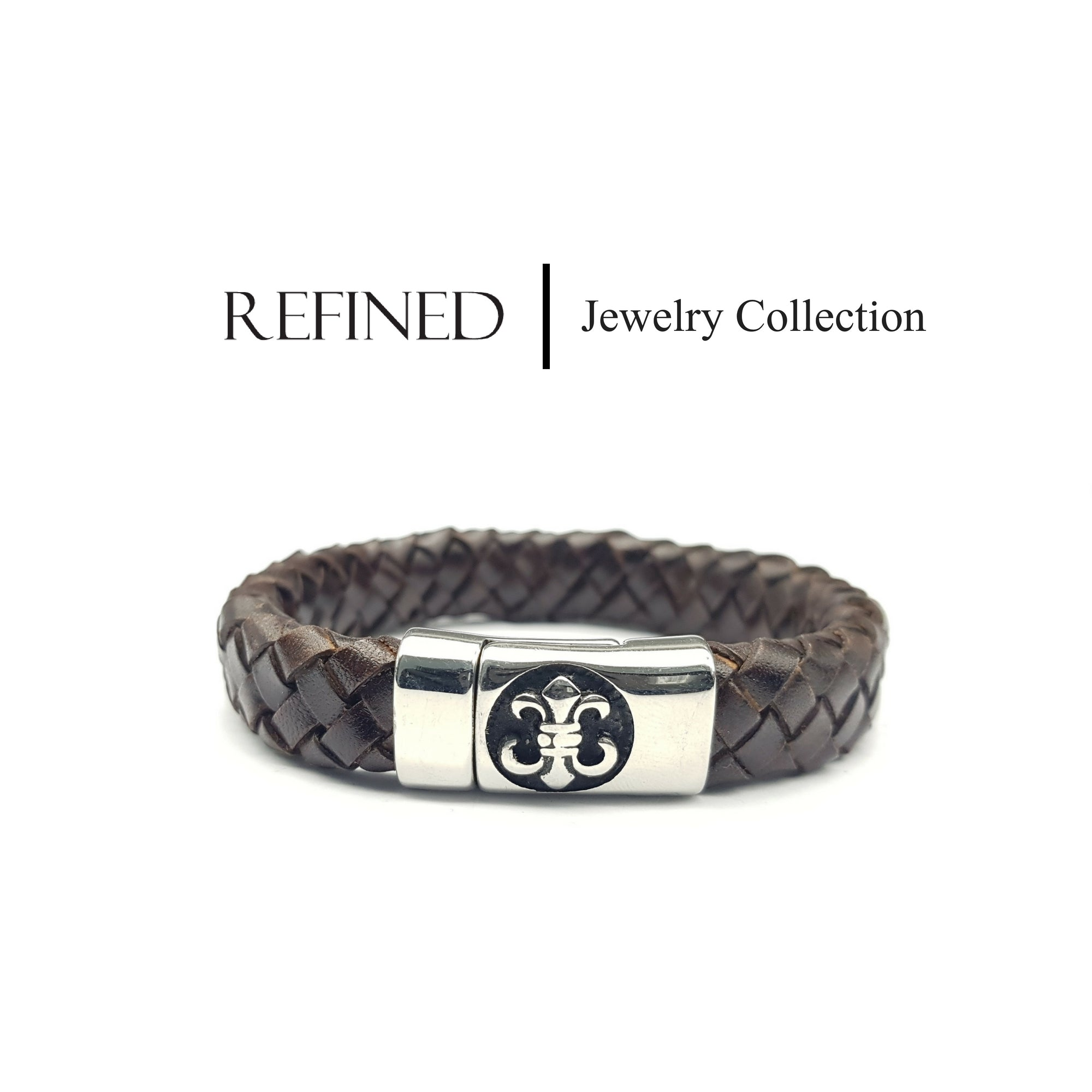 R039 - Boy Scout Refined Brown Leather Bracelet