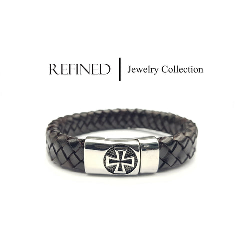 R065 - Refined Black Leather Bracelet