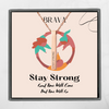 Stay Strong Square Bar Stainless Steel Necklace
