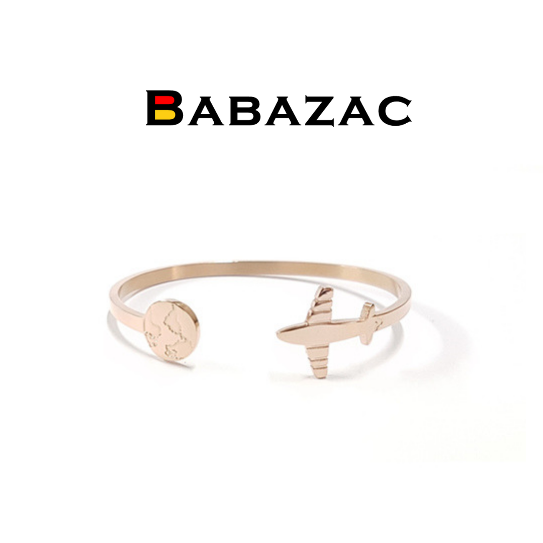 ROSE GOLD Travel The World Cuff Bangle