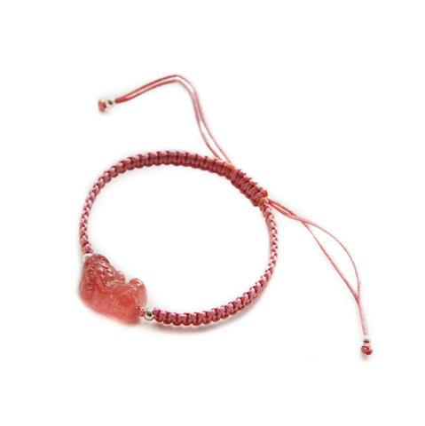Strawberry Crystal Pixiu Bracelet - 10% OFF